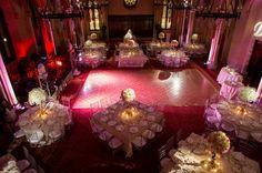 Pretty in pink reception for a perfect couple! (Photo by @bradleyimages) #ModernJewishWedding #weddingreception