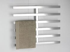How often do you find a towel warmer that isn't tubular? [Too often, those round bars seem to encourage slippage, more than storage—at lea...