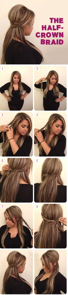 Hot to make a Half Crown Braid
