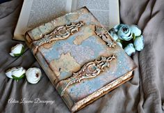 vintage journal book box gothic antique shabby decoupage by Adisa Lisovac Decoupage