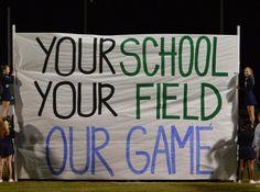 JHS football run through sign Football Spirit Signs, Football Game Signs, High School Football Games, Football Banner, Football Cheer, Sports Signs, Football Quotes, Football Season, Football Posters
