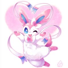 #Sylveon Pokemon Eevee Evolutions, O Pokemon, Pokemon Fan Art, Pikachu, Cute Pokemon Wallpaper, Cute Wallpaper Backgrounds, Evolution Pokemon, Cute Pokemon Pictures, Cute Animal Drawings Kawaii