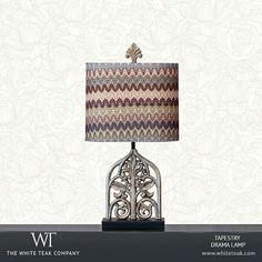 Travel back in time with the aesthetic beauty of the Tapestry Drama lamp. https://whiteteak.com/tapestry-drama-lamp #Lighting #Lamps #Lifestyle #WhiteTeak