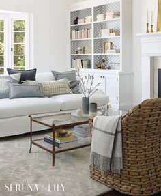 Inspired family spaces for one and for all. Serena & Lily's living room collections are made for gathering.