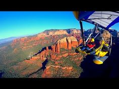 Secrets of Sedona (Ultralight Trike flying over Sedona, Arizona) - YouTube