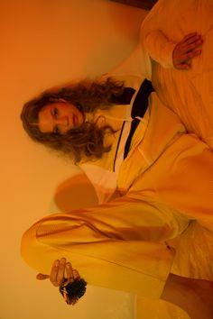 Hell on High for TEETH ONLINE x TEETH MAGAZINE / Photographer / Stylist: Edie Chow Hair: Yoshiki Kirino Makeup: Chichi Saito @ Art adept for MAC Cosmetics Model: Jessica Timczyk @ IMG New York / Jacket  Trousers: Devon Halfnight Leflufy, Jewellery: Laruicci