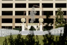 Outdoor wedding ceremony on one of our event lawns