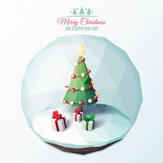 Low Poly Christmas Card on Behance