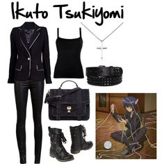 Ikuto Tsukiyomi by tedelof, via Polyvore