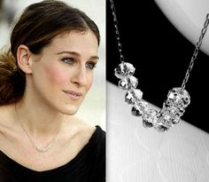 Genuine Swarovski crystal necklace inspired by the necklace worn by Carrie Bradshaw in the final episode of Sex and the City that I was obsessed with since the first time I saw it. So gorgeous. $27.00