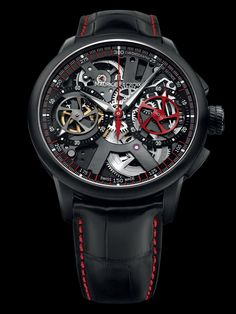 MAURICE LACROIX - MASTERPIECE LE CHRONOGRAPHE SQUELETTE  LIMITED AND NUMBERED EDITION OF 188 PIECES EACH MODEL