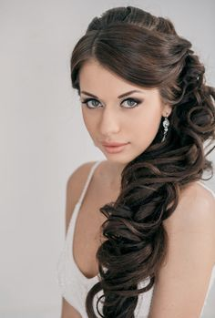 Wedding Hairstyle Ideas for Long Hair - makeup though!