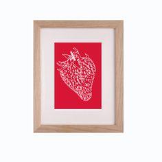Strawberry art print kitchen decor 8 x 10 £20.00