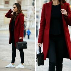 camel coat outfits to stay sexy and warm this season 1 Red Coat Outfit, Winter Coat Outfits, Winter Fashion Outfits, Look Fashion, Fall Outfits, Red Winter Coat, Fashion Coat, Casual Work Outfits, Professional Outfits