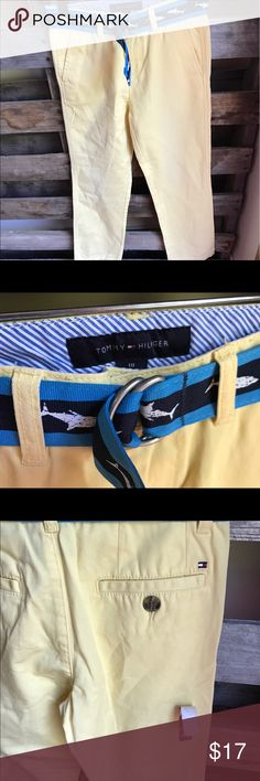 Boys Tommy Hilfiger slim yellow pants size 10 NWT Smoke and pet free home. Bundle discount 20% Tommy Hilfiger Bottoms Casual