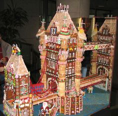 This is one spectacular gingerbread construction. Wouldn't it be fun to have gingerbread houses to use as decorations at a winter wedding? Check out the site for some unique gingerbread houses.