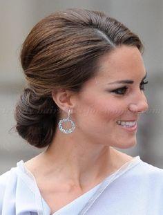french chignon hairstyle   Kate Middleton - chignon hairstyle
