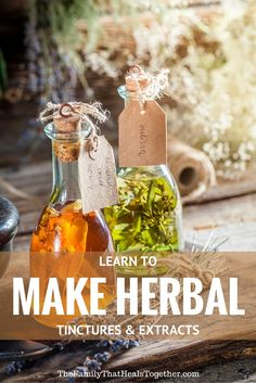 Make Herbal Tinctures and Extracts: The Simple, Frugal Solution for Every Ailment!