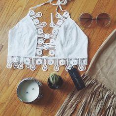 """Shop the Katri Crochet Top at www.hauteandrebellious.com "" Boho Style, Hippie Boho, Boho Fashion, Crochet Top, Flats, Instagram Posts, Shopping, Tops, Women"