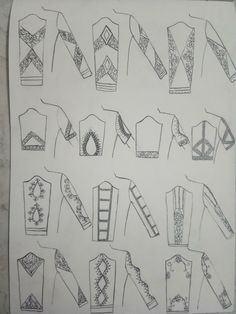 Hand Embroidery Design Patterns, Hand Embroidery Videos, Embroidery Motifs, Machine Embroidery Designs, Fashion Sketch Template, Fashion Design Template, Fashion Illustration Sketches, Fashion Design Sketches, Art Sketches