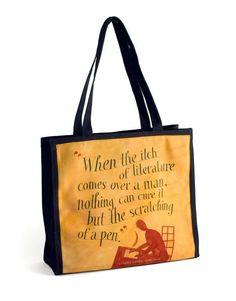 Jeff Fisher Dreams Quote Canvas Tote Bag (14.5 x 14)