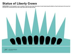 Click the link above to download our free printable Statue of Liberty Crown. The template includes extra bands that can be sized to fit children and adult heads.