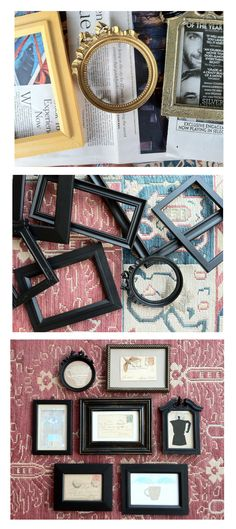 upcycled Goodwill frames for little bits of paper ... at my Etsy shop NoPlaceLikeRome