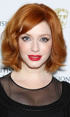 Christina Hendricks with fiery red hair - Hair Colour Spring Summer 2013   InStyle UK