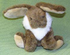 """Chrisha Playful Plush Brown BUNNY Vintage Plush 10"""" MERVYNS Rabbit Stuffed Toy #ChrishaPlayfulPlush"""