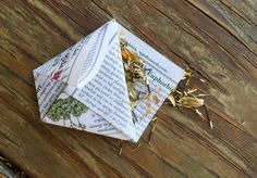 Use recycled paper to make these cute origami seed packets to store your seeds in. They are quick and easy to make, and allow your seeds to breathe.