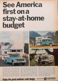 1966 Dodge Campers Truck Ad See America