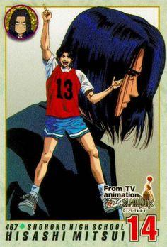 Hisashi Mitsu n° 14 Shohoku mon personnage préféré Slam Dunk Manga, Inoue Takehiko, High Five, Basketball Players, Akatsuki, Sasuke, Naruto, Animation, Sports