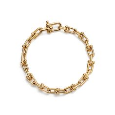Tiffany HardWear link bracelet in 18k gold, medium.