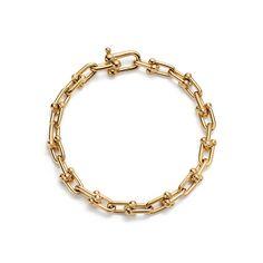 Tiffany HardWear link bracelet in 18k gold, medium.