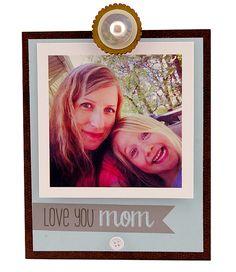 Love You Mom Insta Clip Frame | Personalized Frame, Instagram Frame, Handmade…