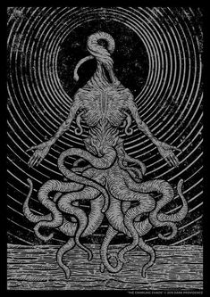Jan Pimping, also known as Dark Providence, is a graphic designer and illustrator from Australia who specializes in occult black and white illustrations.