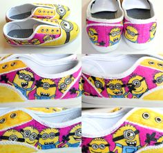 punk projects: Custom Minion Shoes