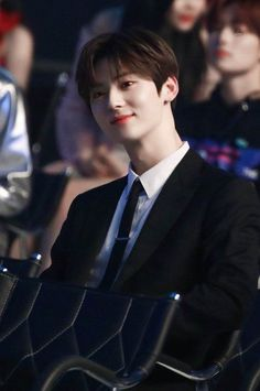 His smile 😍❤️ Busan, Let's Talk About Love, Nu Est Minhyun, Cute Asian Guys, 3 In One, Wonwoo, Kpop Boy, K Idols, Boy Groups