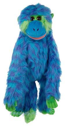 Funky Monkeys noemt The Puppet Company de serie waar deze leuke swingende blauwe aap een onderdeel van is. Hij is 60 cm groot, lekker harig, heerlijk kleurrijk