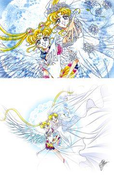 Manga vs Anime Moon Art, Manga Vs Anime, Sailor Moon Usagi, Sailor Moon Manga, Beautiful Drawings, Poster Art, Art, Anime, Pretty Art