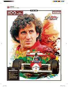 Alain Prost 100 Leyendas del Deporte / 100 Sports Legends by Jesús R. Sánchez, via Behance