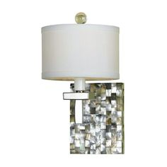 HGTV designer Candice Olson works with AF Lighting to design this Modern Sconce Wall Light with White Shade in Mosaic Finish | 7485-1W | Destination Lighting
