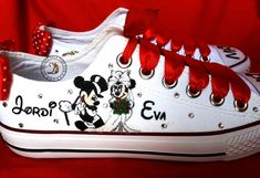 Dad And Son Shirts, Minnie, Disney, Sneakers, Wedding, Shoes, Fashion, Custom Sneakers, Bridal Collection