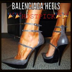 Host Pick Balenciaga D'Orsay Pump Rare Balenciaga D'Orsay triple strap platform pump. Excellent condition❌❌All Black in Color❌❌ Balenciaga Shoes Heels