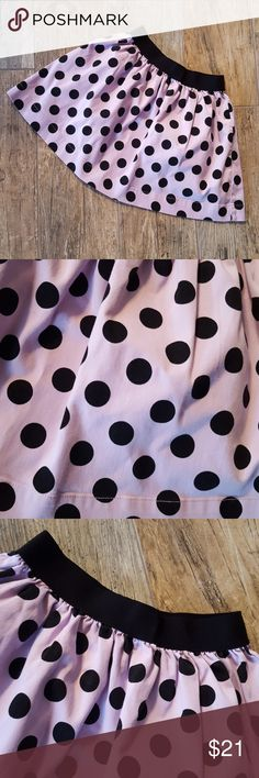Baby Gap polka dot skirt Purple and black, elastic waist, gathered, black polka dot with lilac purple, in excellent condition no sign of wear. Baby Gap Bottoms Skirts