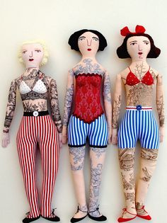 3 tattooed ladies by Mimi K, via Flickr
