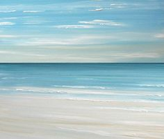 Beach seascape painting print  Ocean beach by FradetFineArt, $40.00