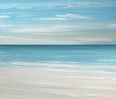 Beach seascape painting print  Ocean beach by FradetFineArt, $40.00