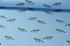 Jersey gemustert - Hellblau Multicolor | Snaply