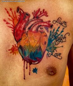 Heart Tattoos, Tatoos, Mago Tattoo, Jewelry Tattoo, Anatomical Heart, Tattoos With Meaning, Watercolor Tattoo, Tatting, Piercings